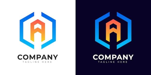 Nowoczesna litera początkowa w stylu gradientu szablon projektu logo