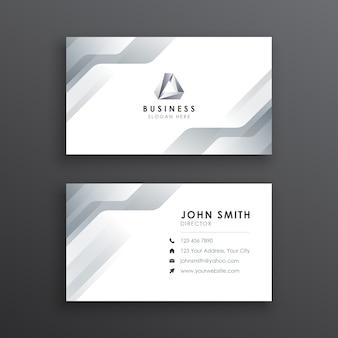 Nowoczesna minimalistyczna biała wizytówka
