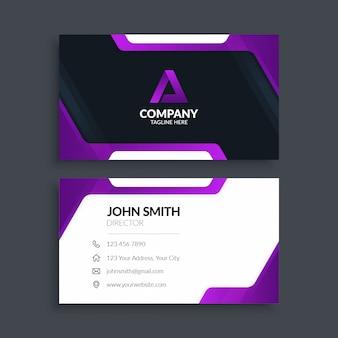 Nowoczesna minimalistyczna fioletowa wizytówka