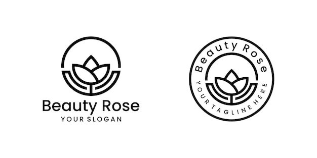 Nowoczesna minimalistyczna inspiracja kwiatowa logo piękny projekt szablonu kwiatowego