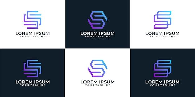 Nowoczesna minimalistyczna kolekcja listów z monogramem