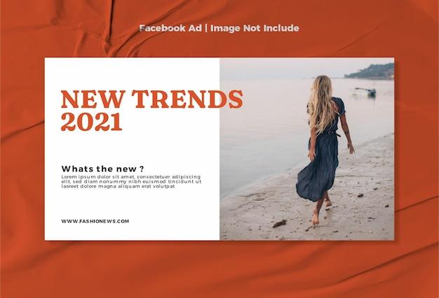 Nowoczesna moda nowy projekt szablonu reklam na facebooku