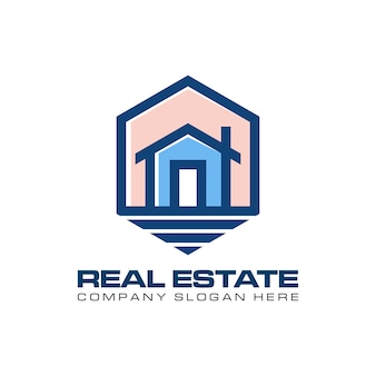 Nowoczesna nieruchomość z logo hexogen