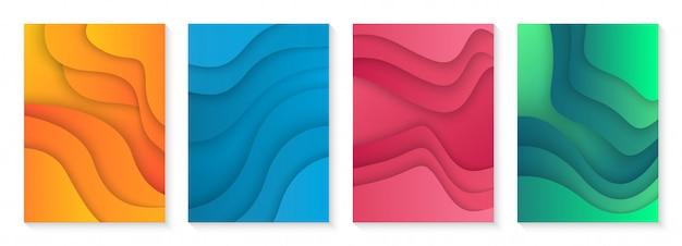 Nowoczesna okładka z kolorowym gradientem
