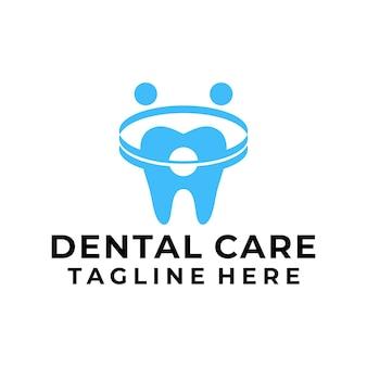 Nowoczesna opieka stomatologiczna logo wektor