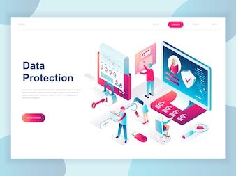 Nowoczesna, płaska izometryczna koncepcja ochrony danych