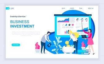 Nowoczesna płaska koncepcja inwestycji biznesowych