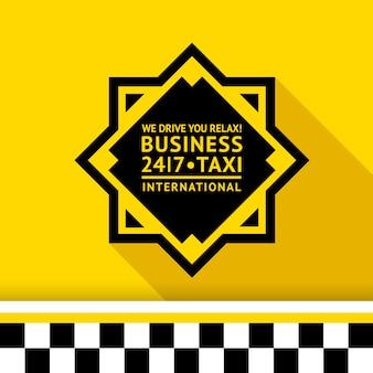 Nowoczesna plakietka taxi