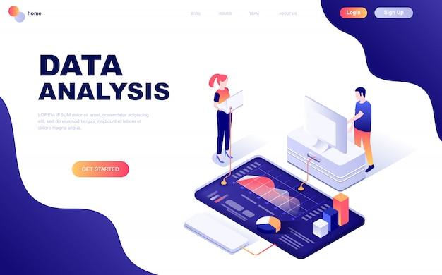 Nowoczesna płaska izometryczna koncepcja analizy danych