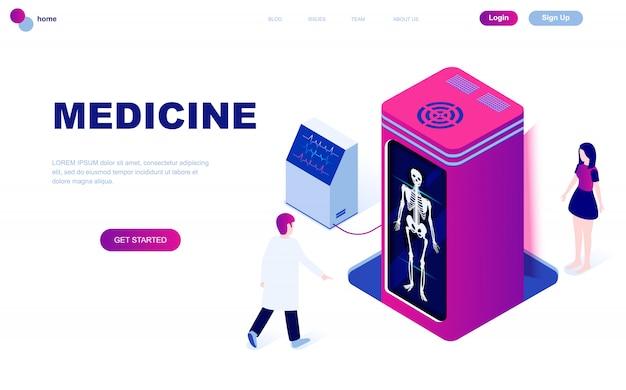 Nowoczesna płaska izometryczna koncepcja medycyny