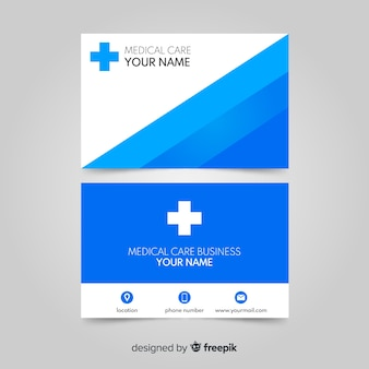 Nowoczesna profesjonalna wizytówka z medycznego projektu