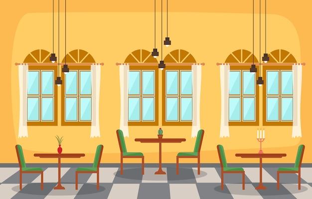 Nowoczesna pusta restauracja cafe