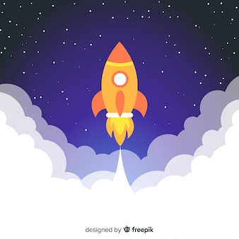 Nowoczesna rakieta kosmiczna o płaskiej konstrukcji