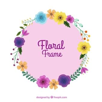 Nowoczesna ramka kwiatowy z płaskiej konstrukcji
