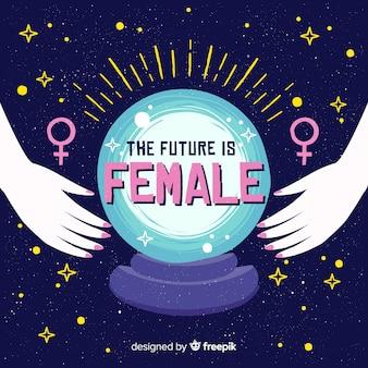 Nowoczesna, ręcznie rysowane koncepcja feminizmu