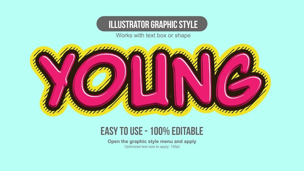 Nowoczesna różowa typografia kreskówki