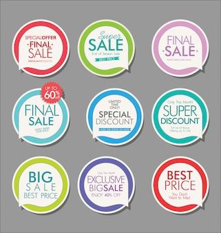 Nowoczesna sprzedaż banery i etykiety kolekcji
