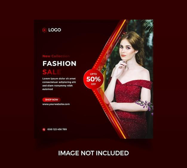 Nowoczesna sprzedaż mody social media post design