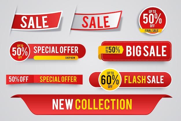 Nowoczesna sprzedaż naklejek i tagów kolorowej kolekcji