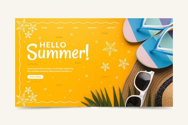 Nowoczesna strona docelowa cześć lato