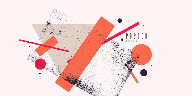 Nowoczesna sztuka abstrakcyjna geometryczne tło z płaskim, minimalistycznym stylu. plakat wektor z elementami do projektowania