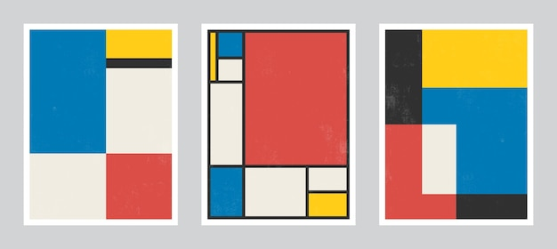 Nowoczesna Sztuka Plakatu. Abstrakcyjna Sztuka ścienna. Cyfrowa Grafika Dekoracji Wnętrz Z Grunge Tekstur. Premium Wektorów