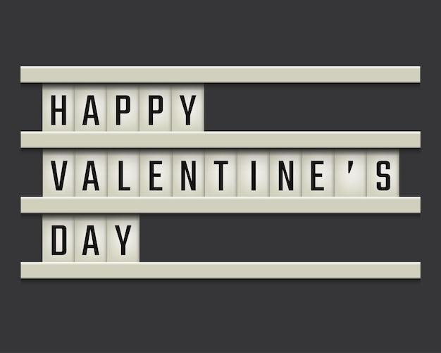 Nowoczesna tablica z tekstem happy valentines day