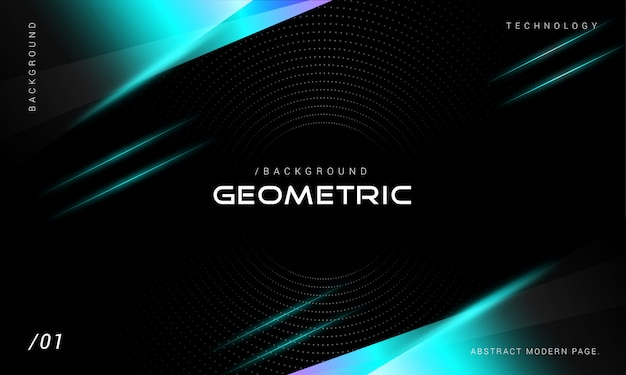 Nowoczesna technologia neon geometryczne tło