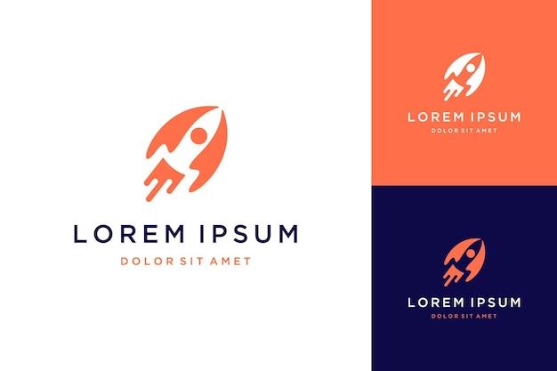 Nowoczesna technologia projektowania logo lub rakieta