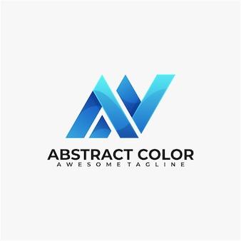 Nowoczesna technologia projektowania logo w kolorze abstrakcyjnym