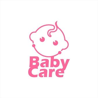 Nowoczesna twarz dziecka noworodka wektor