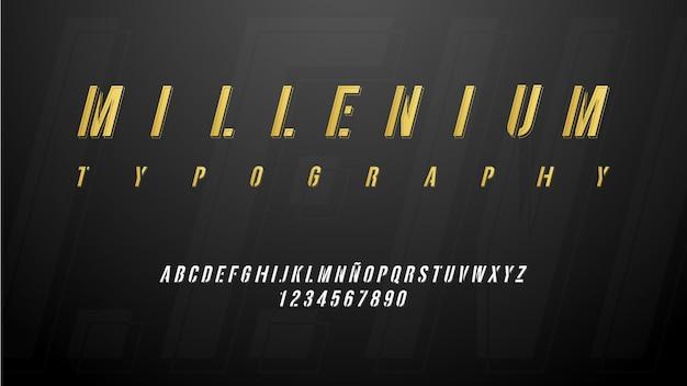 Nowoczesna typografia kursywa klasy premium