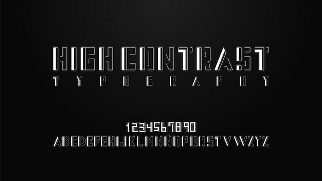 Nowoczesna typografia z efektem wysokiego kontrastu