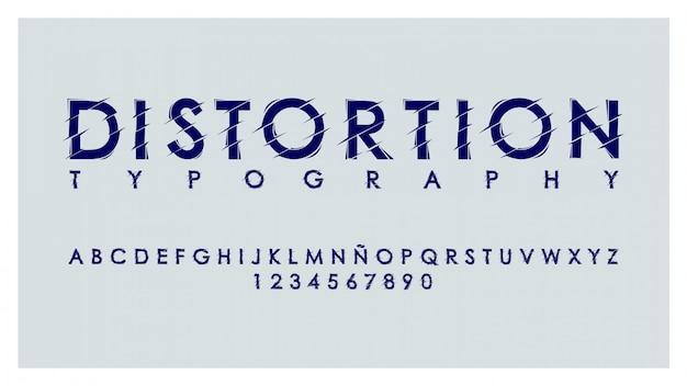 Nowoczesna typografia z efektem zniekształceń