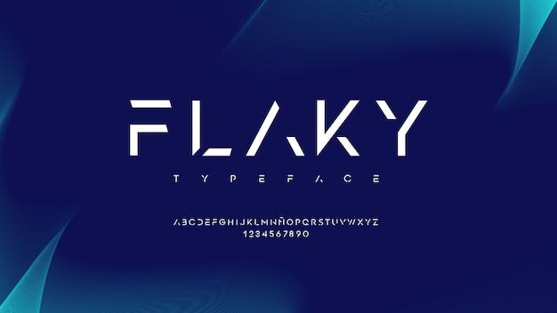 Nowoczesna typografia z pięknym efektem linii