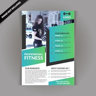 Nowoczesna ulotka fitness gym