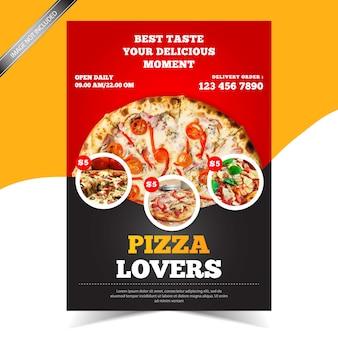 Nowoczesna ulotka restauracji pizzy