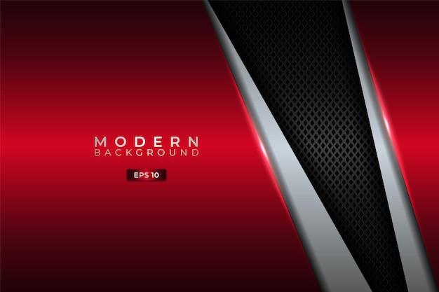 Nowoczesna warstwa premium diagonal w tle z eleganckim metalicznym połyskującym czerwonym i srebrnym