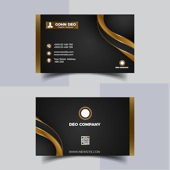 Nowoczesna wizytówka i złota elegancka profesjonalna premium