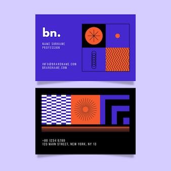 Nowoczesna wizytówka o abstrakcyjnych kształtach