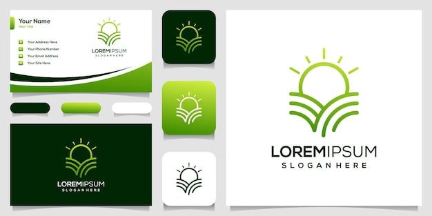 Nowoczesna wizytówka projektu logo farmy
