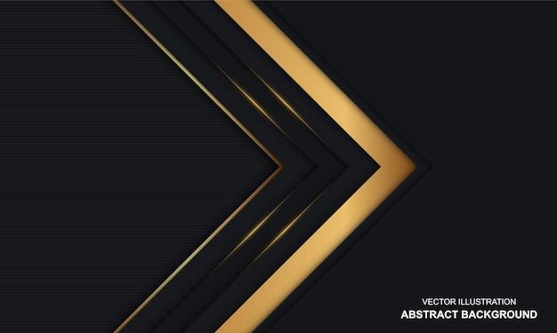 Nowoczesne abstrakcyjne czarne i złote luksusowe tło