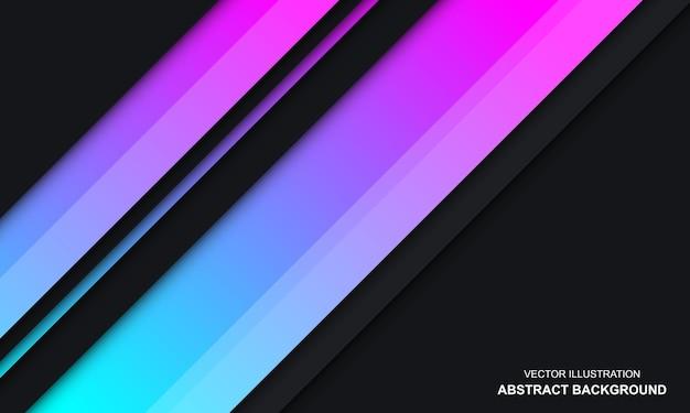 Nowoczesne Abstrakcyjne Czarne Niebieskie I Różowe Tło W Kolorze Premium Wektorów