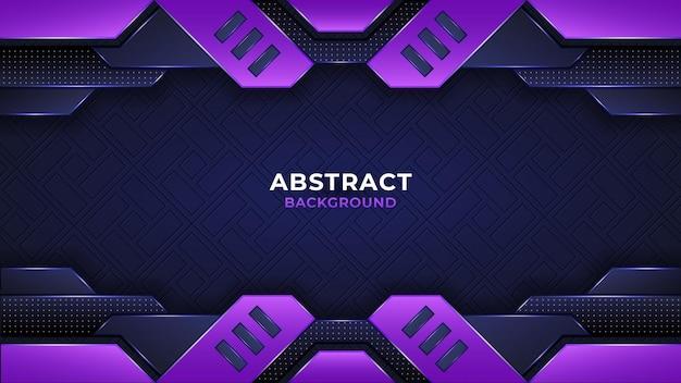 Nowoczesne abstrakcyjne czarne tło z fioletowymi liniami i kształtami