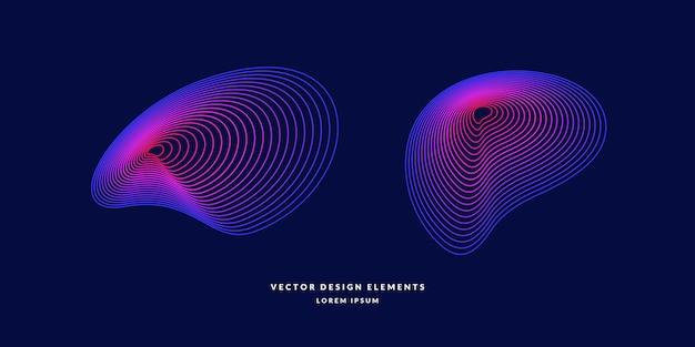 Nowoczesne abstrakcyjne elemetnt z kolorowymi liniami