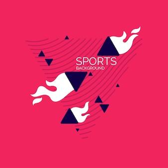 Nowoczesne abstrakcyjne geometryczne tło plakat sportowy z płaskimi figurami