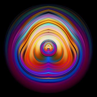Nowoczesne abstrakcyjne kolorowe koło art design z tłem w kształcie fali cieczy