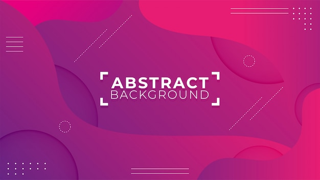 Nowoczesne abstrakcyjne kształty z fioletowym tle