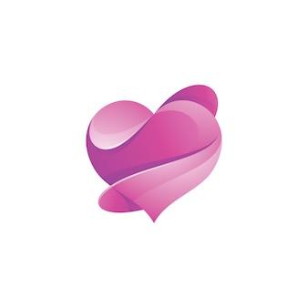 Nowoczesne abstrakcyjne logo serca