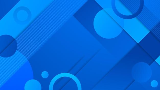 Nowoczesne abstrakcyjne niebieskie tło z kolorowym elementem koła i błyszczącym efektem ilustracji